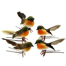 10pcs Very Cute Artificial Feather Robin Bird Christmas Tree Decoration Craft