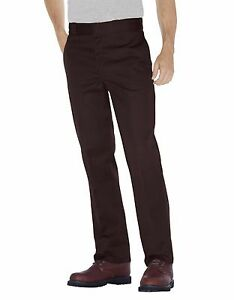 Dickies Homme Marron Foncé Travail Pantalon 874 Original Fit Tailles 30 Pour 44