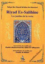 Riyad Es-Salihine avec commentaires arabe français livre islam - NEUF