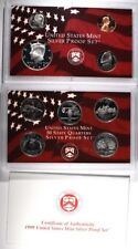 1999 U.S. SILVER PROOF SET IN ORIG BOX/COA Lot 264