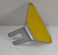 Bolt-On Amber Guardrail Butterfly Reflector .090 Galvanized Steel Single Sided