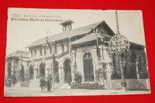 BELGIQUE PAVILLON MOET ET CHANDON EXPOSITION BRUXELLES 1910  R649