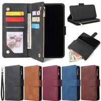 Zipper Wallet Leather Flip Case Cover For Xiaomi Mi 10 Lite Redmi Note 9S 9A 9C