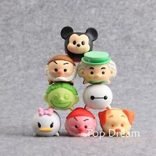 8X Cartoon Mickey Mouse Baymax Big Hero Tsum PVC Action Figures Cake Topper Gift