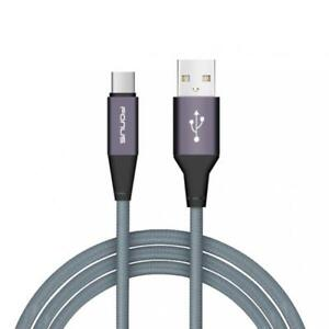 6FT LONG TYPE-C CABLE FAST CHARGE POWER USB WIRE USB-C SYNC CORD - GRAY BRAIDED