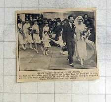 1925 Basil Hill-wood And His Bride Joan Brand Leaving St Margaret's Church Westm