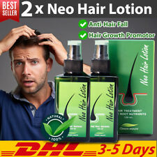 2x Neo Hair Lotion Growth Root Hair Loss Sideburn Treatments Green Wealth 120ml