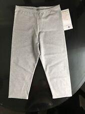 Vintage 1990s Activewear NOS New Fitness USA Made Capris Leggings Jr. XL Grey