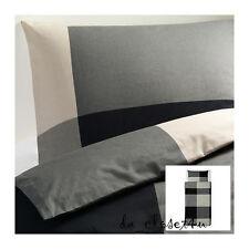 IKEA BRUNKRISSLA Twin Duvet Quilt Cover set Black Gray Red Orange Blue Green NEW