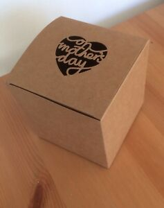 1 Large 10cm On Mother's Day Love Heart Gift Eco Box + Tag Candy Favour