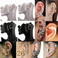 Fashion Women's Jewelry Crystal Clip Ear Cuff Stud Wrap Cartilage Earring