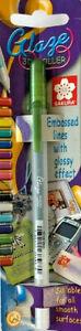 Sakura Glaze 3D Glossy Roller Pen Hunter Green Embossed Lines XPGB830
