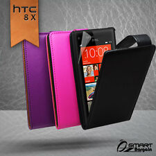 Premium Flip leather Case Cover for Htc 8X + Free Screen Protector