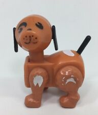 Vintage Fisher Price Little People 915 Farm Barn Brown Dog Spots