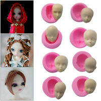 3D Baby Face Silicone Cake Mould Fondant Sugarpaste DIY Doll Head Mold Tools New