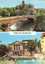 AK, Halle Saale, Burg Giebichenstein und Theater des Friedens, zwei Abb., 1968