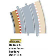 Scalextric C8282 radio 4 curva interior de las fronteras 22.5 grados Accesorio de escala 1:32 (PL)
