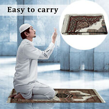 US Turkish Islamic Muslim Janamaz Prayer Rug Carpet Mat Tassel Tapestry  US