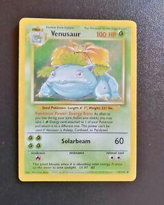 Pokemon card Venusaur #15/102 Set Base ENG - ✅Rare holo - ✅NM