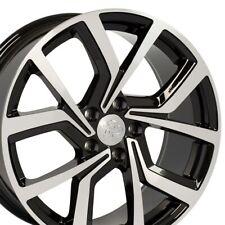18x8 Wheel Fits VW GTI Style Blk Machd Rim Offset 42mm Rim W1X