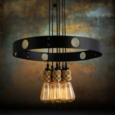 Retro Wrought Iron Chandelier Metal Pendant Light for Cafe Restaurant Bedroom