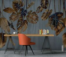 New Listing3D Vintage Leaves Zhua8164 Wallpaper Wall Murals Removable Self-adhesive Amy