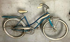 J.C. Higgins 'Flightliner' bike Springer Fork fenders rack tank and funky pedals
