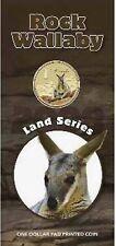2008 $1 Pad Printed Coin Land Series - Rock Wallaby Coin/Card