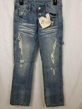 Bubblegum Jeans Women's Boyfriend Fit Distressed Carpenter Jeans Size 1/2 New