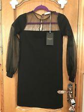 Aster Black Mesh Dress size S