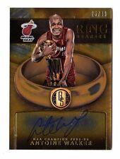 Antoine Walker NBA 2015-16 Gold Standard Anello portatori AUTOGRAFO (Miami Heat)/49
