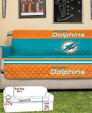 MIAMI DOLPHINS NFL FOOTBALL TEAM SOFA COUCH FURNITURE PROTECTIVE COVER