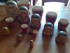 """LARGE RUSSIAN DOLL 5 PIECE - 7"""""""