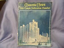 MASONIC NEWS  NEW TEMPLE DEDICATION NUMBER  1922