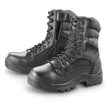 USED HQ ISSUE Men's Waterproof Side Zip Tactical Boots Black 11M