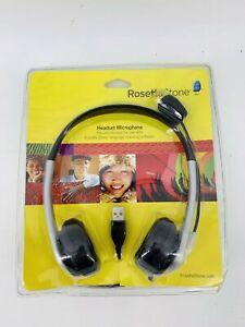 Rosetta Stone USB Headset Microphone Headphones Learn A Language