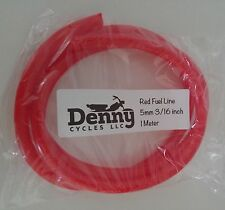 """Moped 5mm Red Fuel Line 3 Feet Ft Puch Tomos Motobecane Vespa Sachs 3/16"""""""