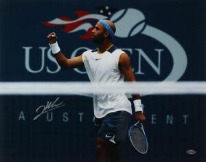 "Autographed James Blake US Open Signed 16""x20"" Tennis Poster Steiner Hologram"