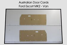 Ford Escort MK2 VAN Door Cards Blank Trim Panels. Mark 2 Escort