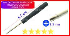 x 50 MINI CACCIAVITI 8.5cm Phillips 1.5 mm RIPARAZIONE CELLULARE NOTEBOOK TABLET