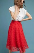 NWT ANTHROPOLOGIE STYLEKEEPERS MARLOW TEXTURED SKIRT Red Size L