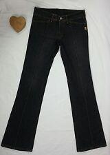 Bettina Liano Jeans Size 31 Blue Denim Flare Centre Seam 100% Cotton Wide Waist