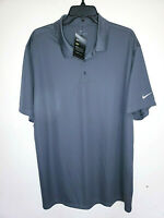 Mens Nike Dri-Fit Short Sleeve Polo Shirt Grey Golf New NWT Size 2XL