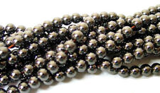 2 Strands of Hematite Round Beads 4MM Top Quality