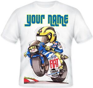 TOP Kids BOYS Personalised Koolart MOTORBIKE Yamaha T Shirt BIRTHDAY