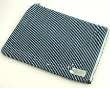 New Polo Ralph Lauren Blue Stripe Canvas Tablet iPad Case Media Holder