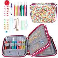 Teamoy Ergonomic Crochet Hooks Set, Knitting Needle Kit, Zipper Organizer Case