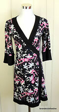 Diane Von Furstenberg 6 Vintage Silk Stretch True Wrap Career Mini Dress Renny
