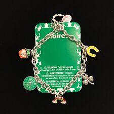 Claire's Jewelry St Patricks Day Charm Bracelet Irish Holiday Fashion Jewelry