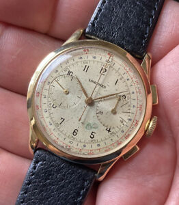 VERY RARE LONGINES   CHRONOGRAPH 13ZN (PERFECT WORKING)STAINLESS STEEL(FLYBACK)